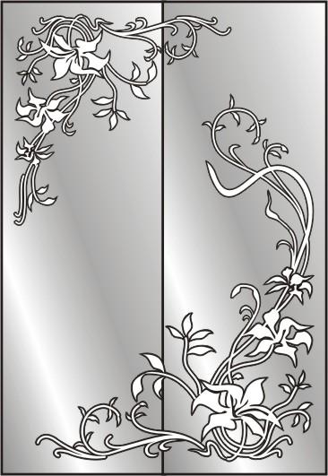 Трафареты для зеркала