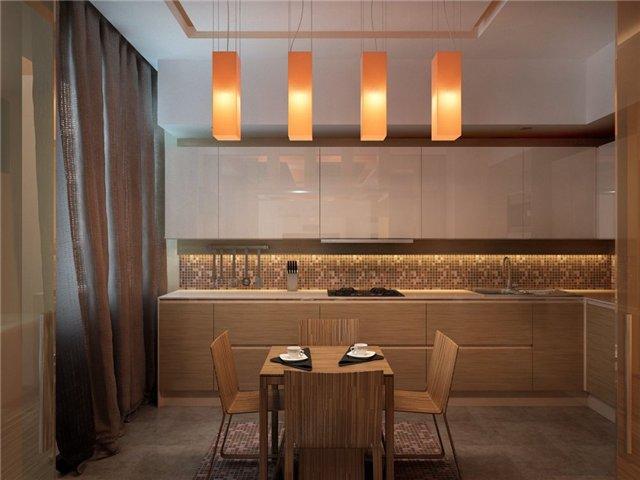 Дизайн кухни столовой гостиной - Фото интерьер кухни.