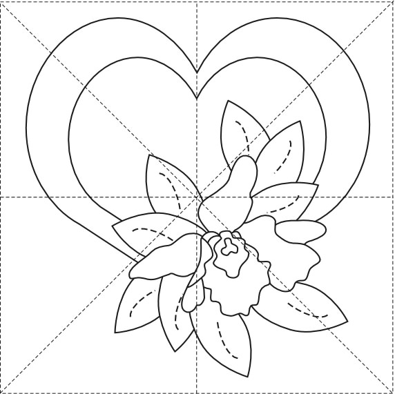 Orchid Heart 8inch (572x571, 57Kb)