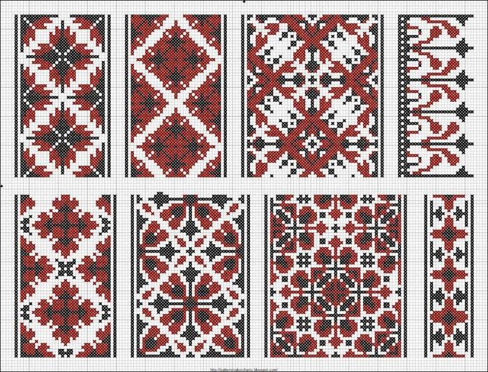 Схемы украинской вышивки крестом на сорочку
