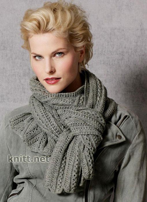 Схема вязки шарфа 9