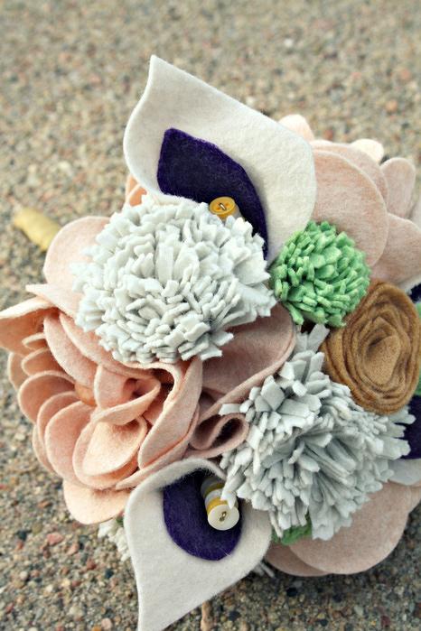Цветы из войлока, фетра 4 (466x700, 206Kb)