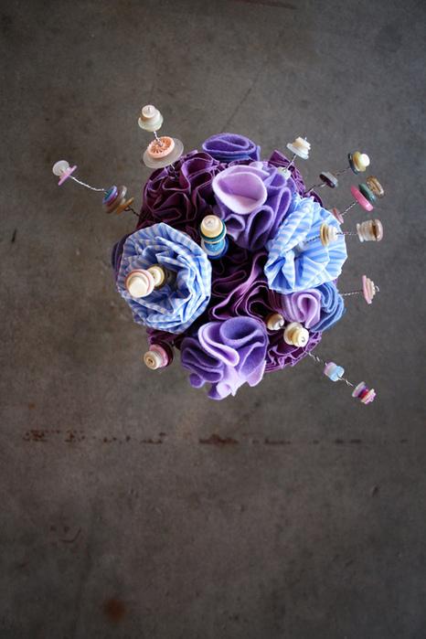 Цветы из войлока, фетра 20 (466x700, 157Kb)