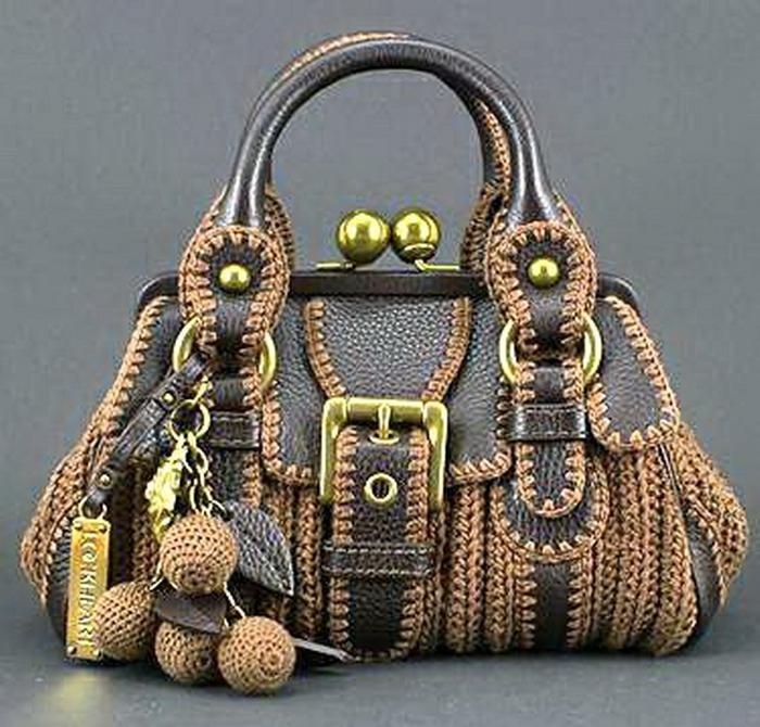 Вязаная сумка своими руками фото