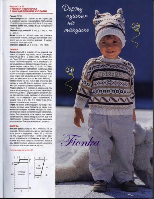 Описание вязания шапочки для мальчика 3 лет