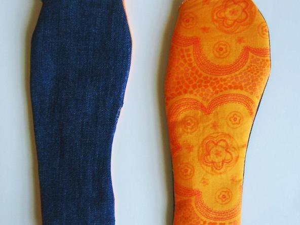 тапочки из старых джинсов своими руками