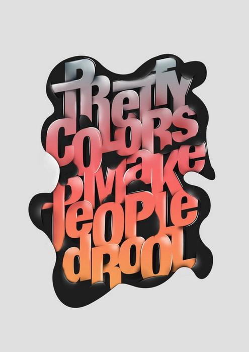 Типографика дизайнера Fabian De Lange