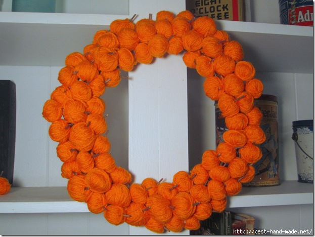 Fall Wreath With Yarn Pumpkins_thumb[1] (623x468, 159Kb)