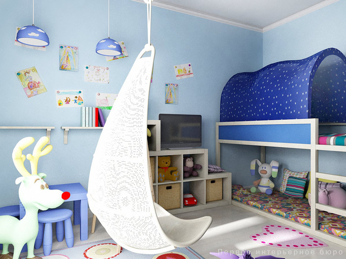 Дизайн детской для девочки фото.
