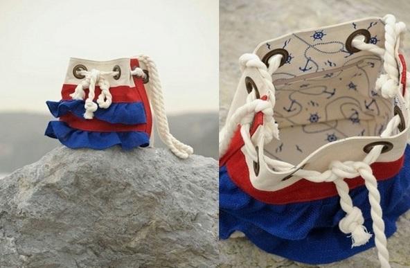 Магазин сумки в морском стиле
