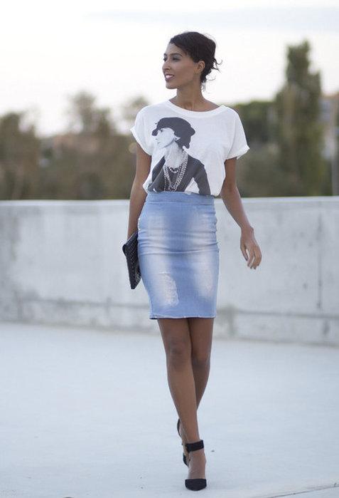 модные джинсовые юбки 2013