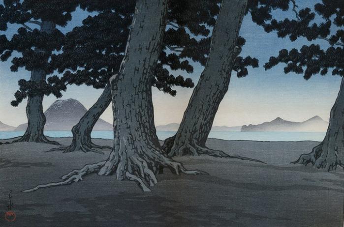 Kaiganji пляж, Sanuki, 1934 (700x462, 105Kb)