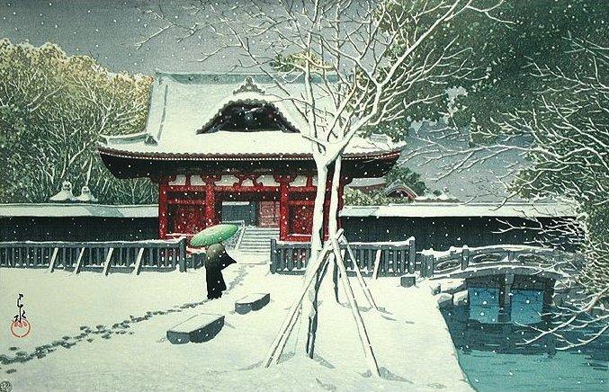 Snow at Shiba Park (677x436, 126Kb)