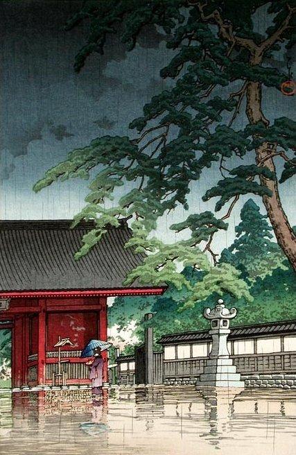 Spring Rain, Gokokuji Temple. (427x656, 91Kb)