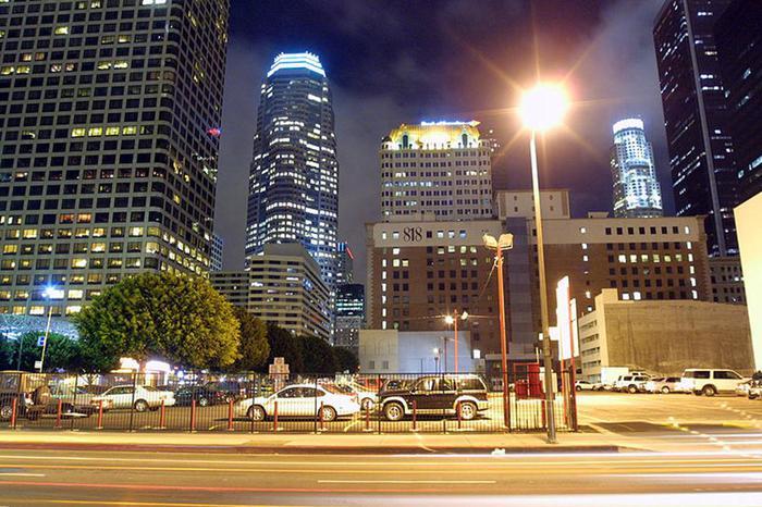 Лос анджелес ночью