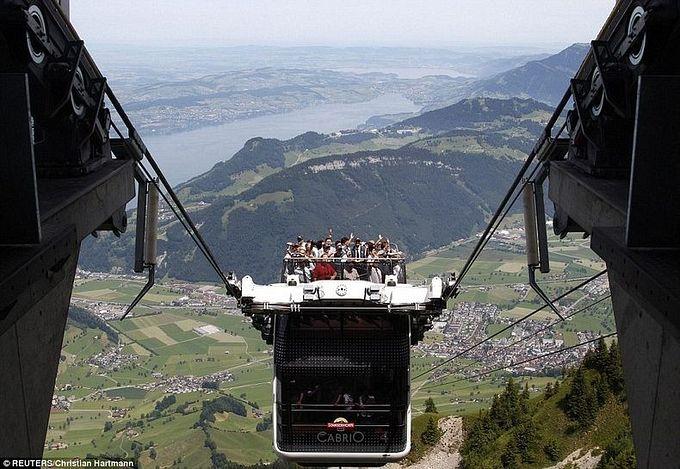 канатная дорога The Cabrio в швейцарии (680x469, 84Kb)