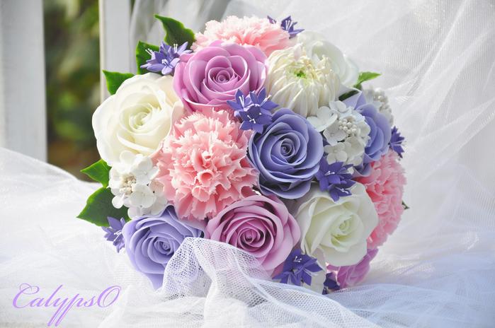 Свадебный букет из полимерной глины ...: www.liveinternet.ru/users/4805613/post242421855