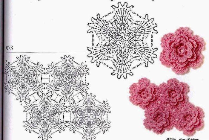 钩针花型图解(70) - 柳芯飘雪的日志