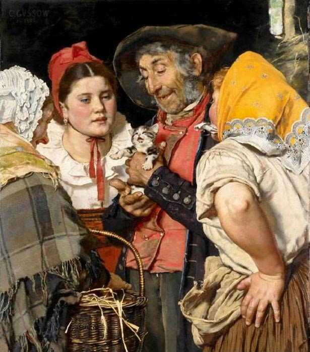 Karl Gussow - Old Man's Treasure (615x700, 84Kb)