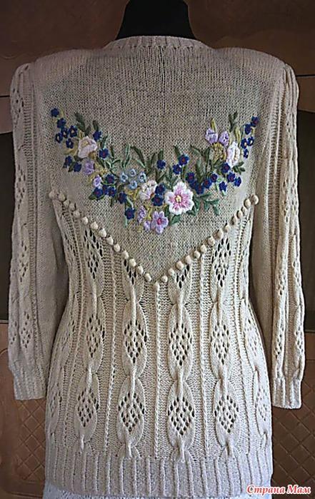 桑塔纳的针织刺绣外套 - maomao - 我随心动