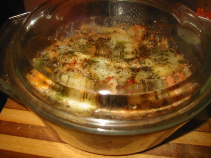 курица в стеклянной посуде духовке рецепт