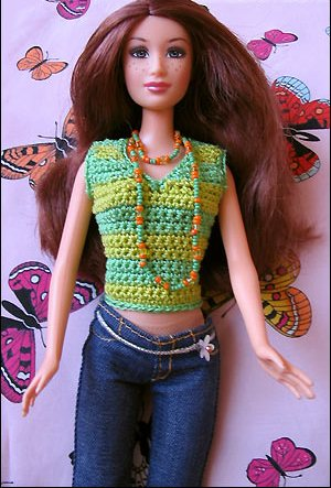 Вяжем одежду для кукол Барби