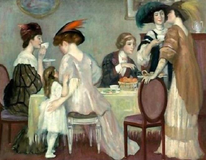 Henri Caro-Delvaille (1876 – 1928, French)teatime (660x512, 53Kb)
