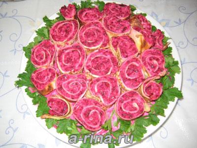 новые рецепты салатов с фото на юбилей
