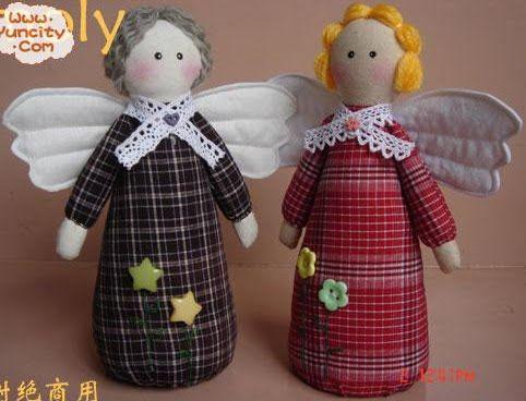 Шьем Рождественских ангелов. Подборка с выкройками 9