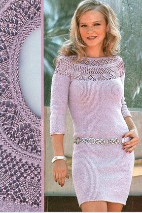 Платье спицами схема вязания