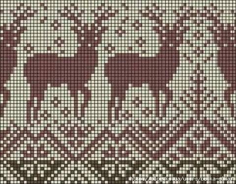 схема вязания спицами белого медведя.