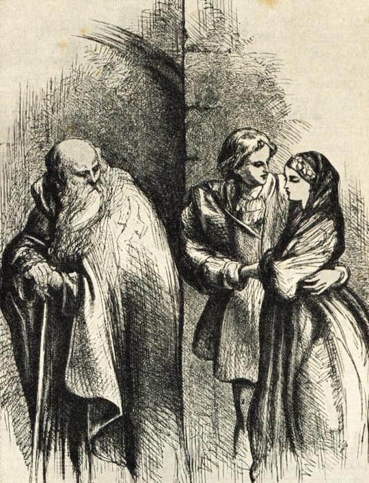 John Gilbert. Ромео, Джульетта и монах Лоренцо (534x700, 173Kb)