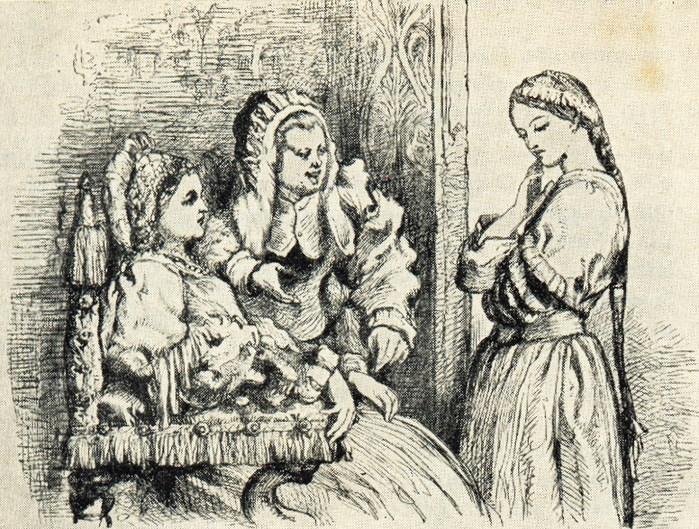 John Gilbert. Мать и няня уговаривают Джульетту выйти замуж за Париса (700x529, 195Kb)