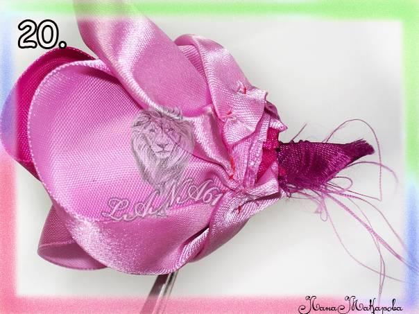 手工丝带花:玫瑰 - maomao - 我随心动