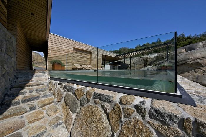 Норвежский дачный дом с террасой