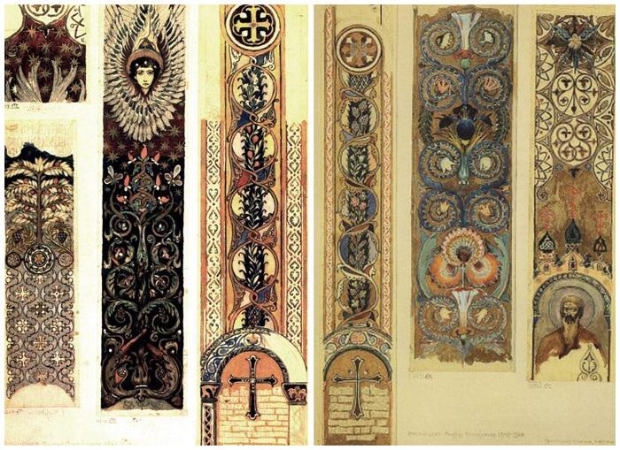 Кроме Васнецова в росписи стен собора принимал участие и Н.В. Нестеров...