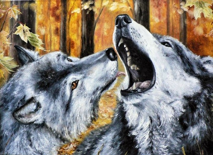 бисер схемы волк.