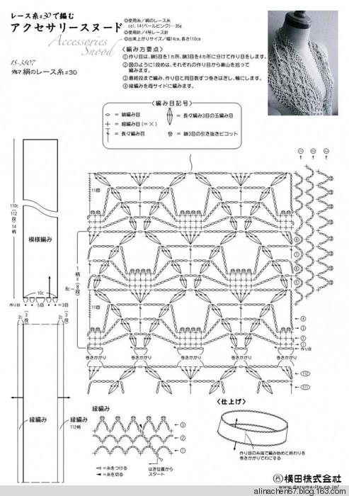 Вязание крючком снуда схемы и описание 36
