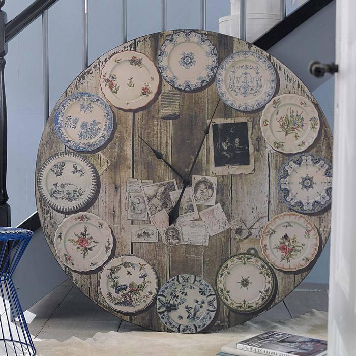 Как сделать часы из тарелки