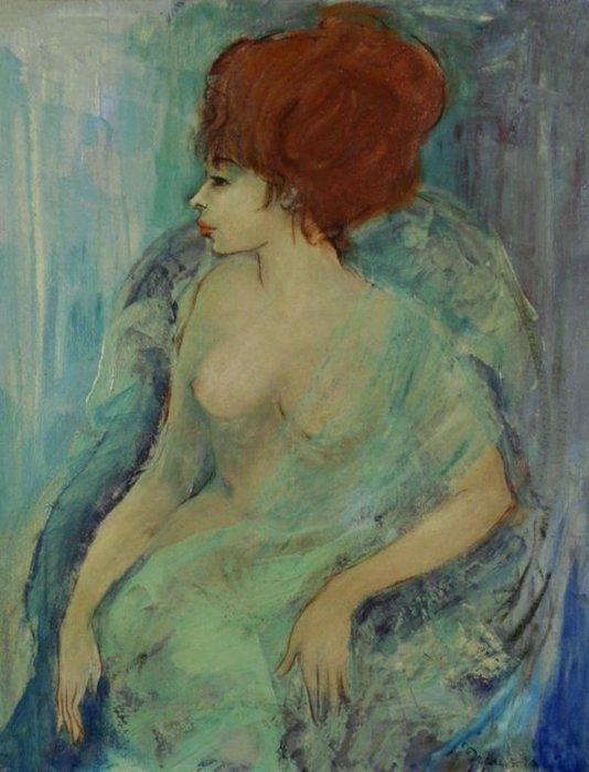 Woman In The Green Dress (534x700, 61Kb)
