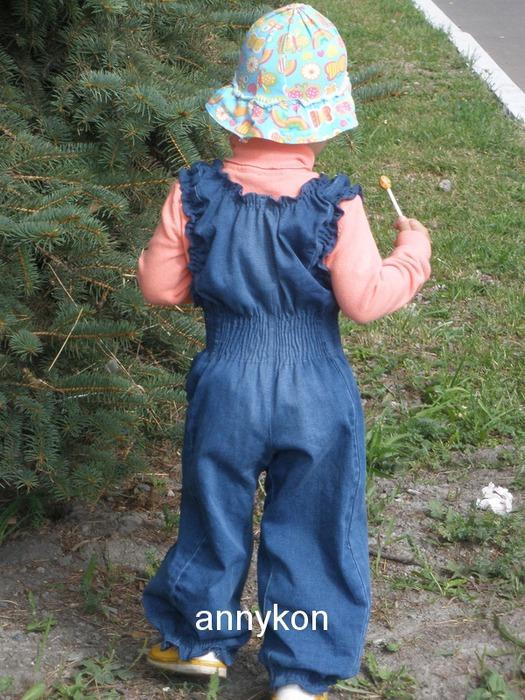 Детский джинсовый комбинезон своими руками из старых джинсов