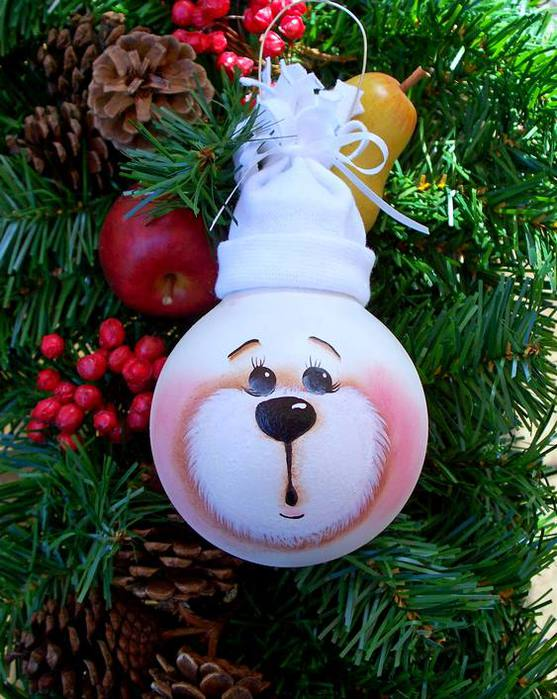 Новогодние игрушки из лампочек инструкция