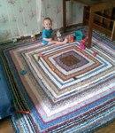 вязание крючком. коврик из старых вещей - Самое интересное в блогах.