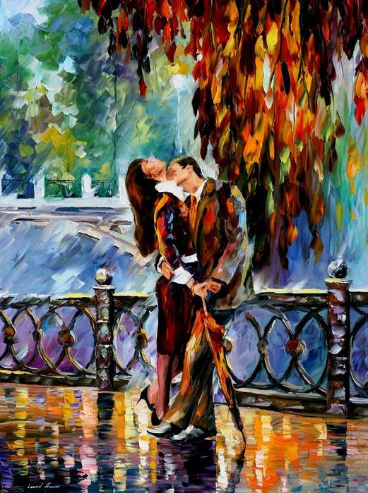 KISS_AFTER_THE_RAIN_by_Leonidafremov (521x700, 164Kb)