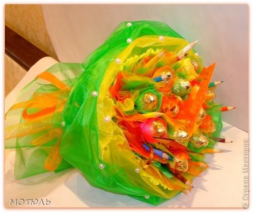 1 сентября букет из конфет мастер класс