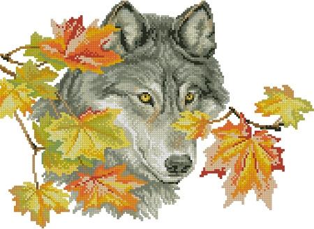 """Схема -  """"Wolf """", фото 1 - I.B.STUDIO-вышивка бисером, канва с рисунком, схемы для вышивки крестиком."""