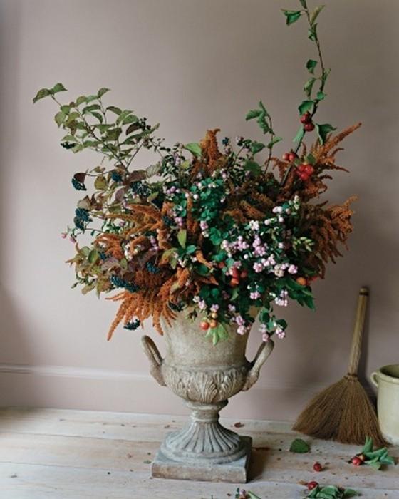 Осеннее декорирование интерьера от Марты Стюарт