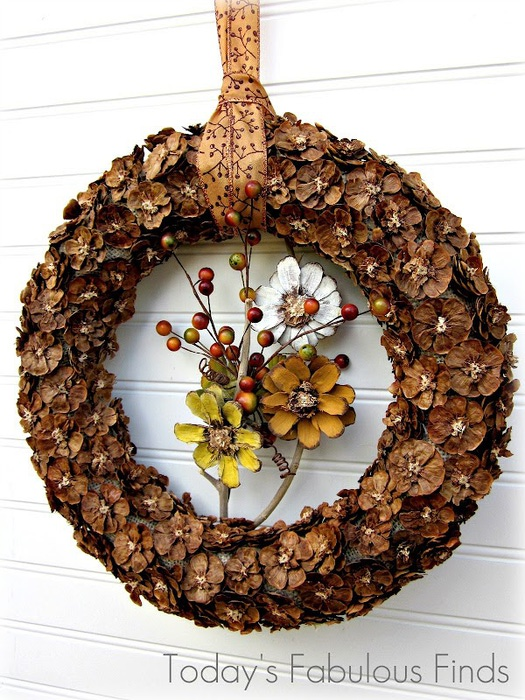 Fall Pine Cone Flower Wreath_5991r (525x700, 161Kb)