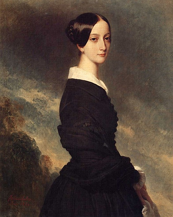 Franz-Xavier Winterhalter. Франсиска Каролина Браганса, принцесса Бразильская, принцесса де Жуанвиль.1844г. (559x699, 287Kb)