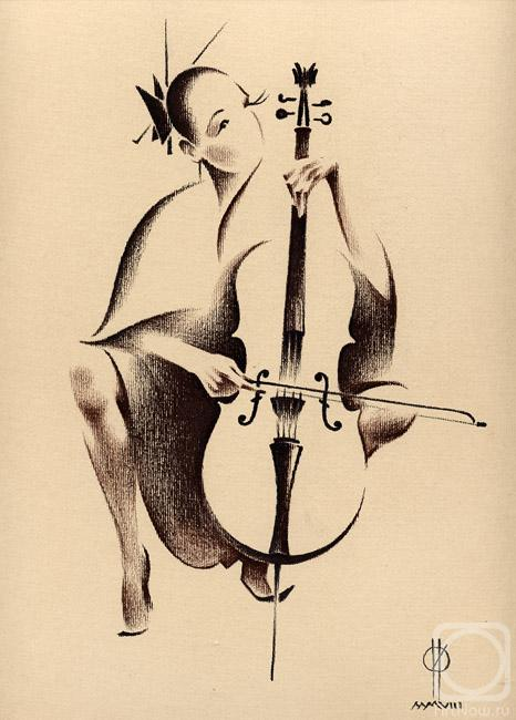 Олег Ильдюков виолончелистка (466x650, 45Kb)